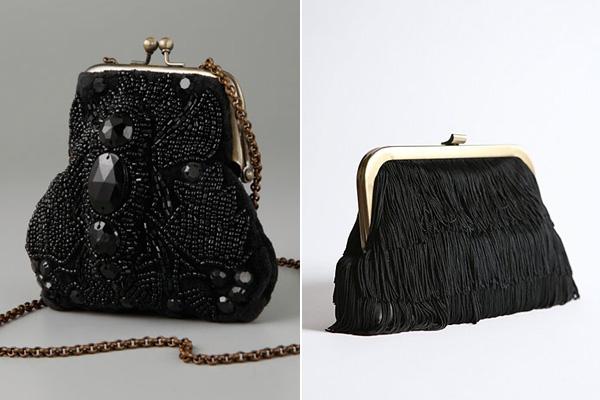 siyah el çantası
